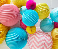 Paper lantern party decor