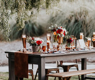 Copper and red wedding ideas
