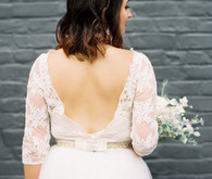 2 piece wedding dress
