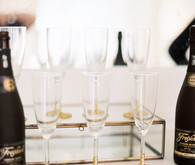 Gold glitter champaign glasses
