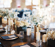 Navy and gold Savannah wedding