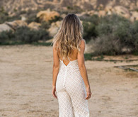 White Lace Bridal Jumpsuit