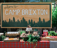 Vintage camp birthday party