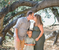 Sunset maternity + family session in Topanga