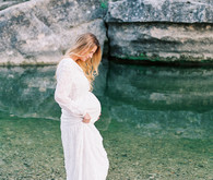 Bull Creek maternity photos near Austin TX
