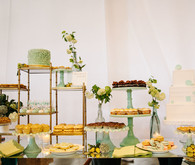 Mint green dessert table