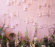 Pink escort card display