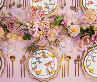 Pink wedding decor
