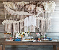 Macrame backdrop
