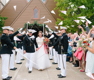 US Marine wedding