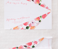 Paper airplane wedding programs