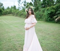classic formal maternity portrait
