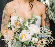 Garden bridal bouquet