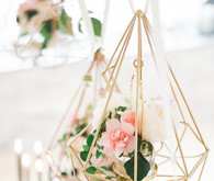 Geometric floral display
