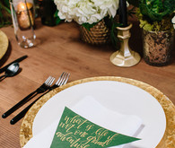 Green and white wedding ideas
