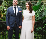 Greenhouse wedding portraits