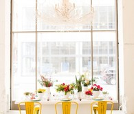 Rustic yellow chairs