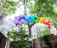 simple rainbow birthday party
