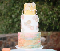 Modern summer wedding cake