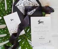 Modern black and white baby shower