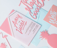 Modern summer wedding invitations