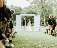 Outdoor Florida wedding