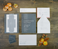 Modern fall wedding invitations