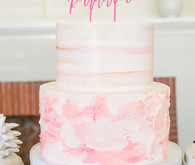 Blush layer cake