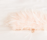 Pink feather purse