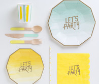 Modern paper party decor
