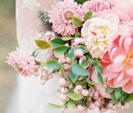 Pink summer peony bouquet