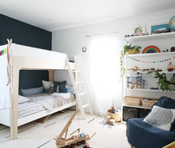 Modern natural shared boys room