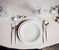 Modern vintage place setting