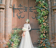 Romantic modern church wedding inspiration