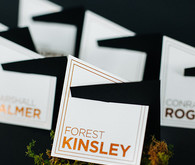 Modern geometric escort cards