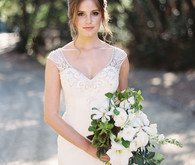 Elegant wedding dress from David's Bridal