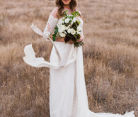 Rustic romantic wedding dress from David's Bridal