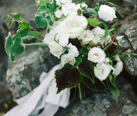 Organic white bridal bouquet