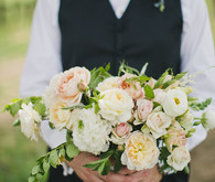 Soft pink and white wedding bouquet