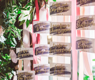 Ribbon escort cards