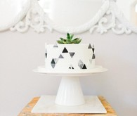 Black and white Southern baby shower