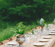 Simple rustic baby shower tablescape