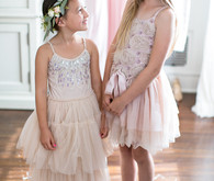 flower girls with sneakers