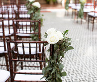 ceremony aisle garland