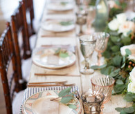 Pretty blush tablescape