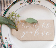 Cute place setting quote