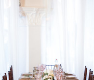 romantic indoor reception decor