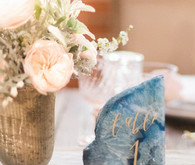 pink and blue wedding details