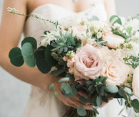 romantic blush bouquet