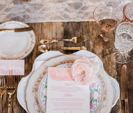vintage reception decor